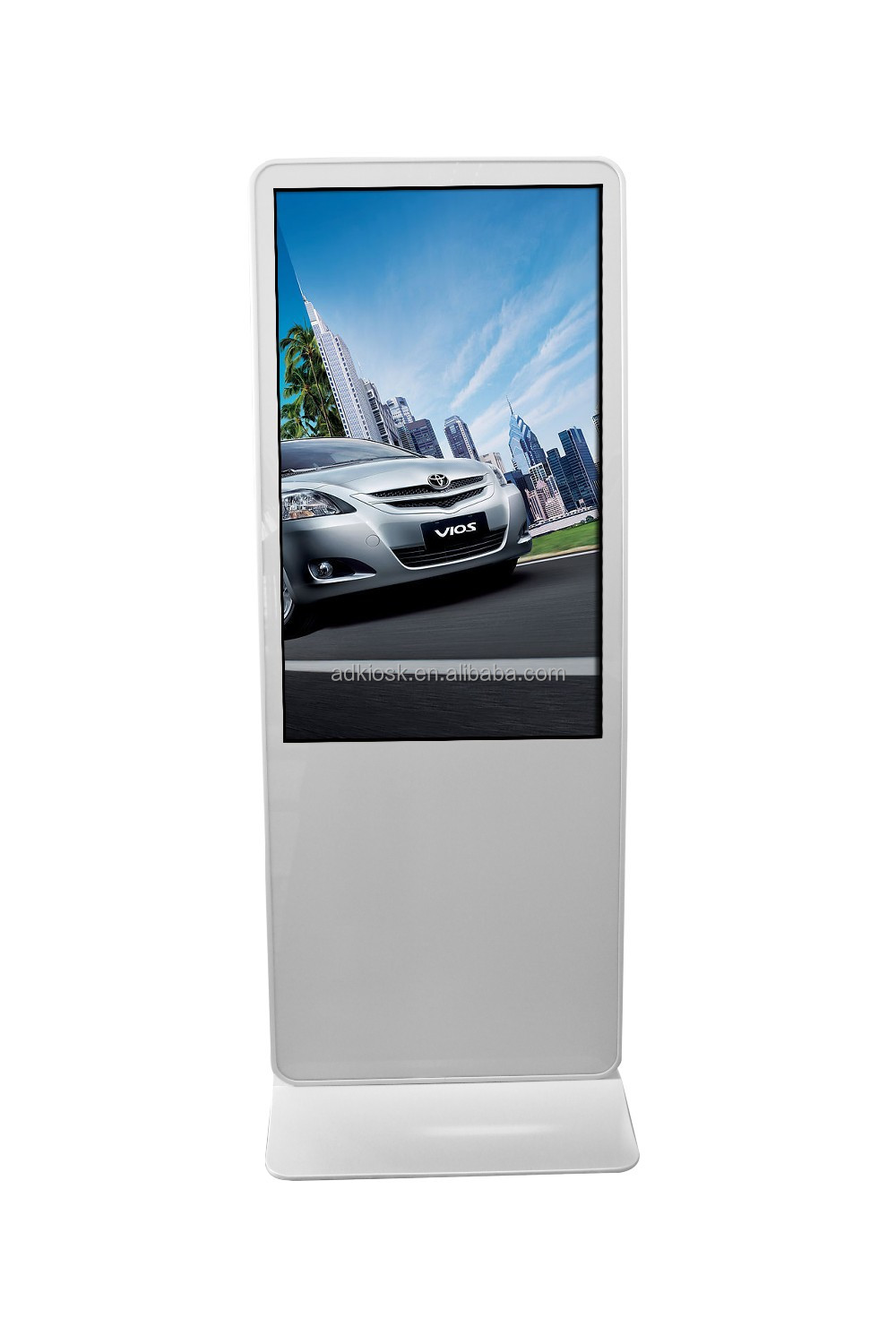 Creative 55 inch hall standing Iphone design kaiboer media player interactive kiosk prices