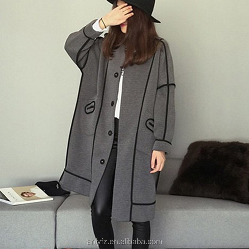 Winter new arrival baseball uniform long coat with both sides for ladies
