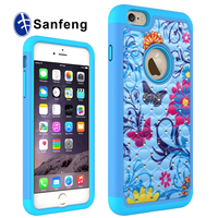 2016 Hot sale OEM newest fashion colorful diamond cell phone case for iphone 6