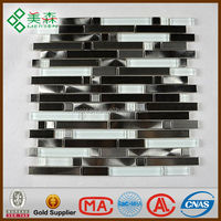 Diaphanous stone & glass mosaic tile Papper box