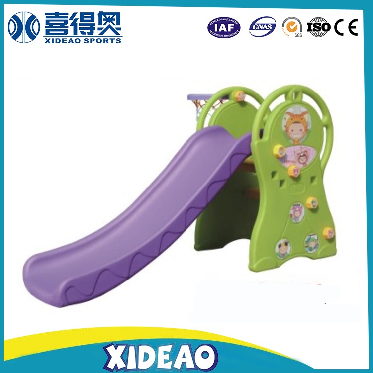 colorful kids indoor small mini playground toys plastic slide XA-T0903E