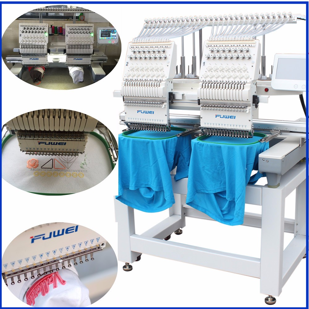 FUWEI factory newest Double head muli-fuctions computer embroidery machine