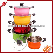 New 5pcs stainless steel double wall casseroles hot pot