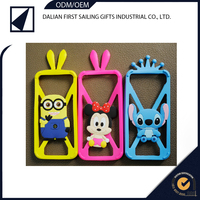 Wholesale Fun Shape Multi Colours cute cartoon mobile phone silicone rubber case / silicone rubber cover