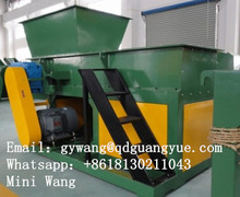 Strong Single Shaft Wood Pallet Shredder / Wood crushing machine