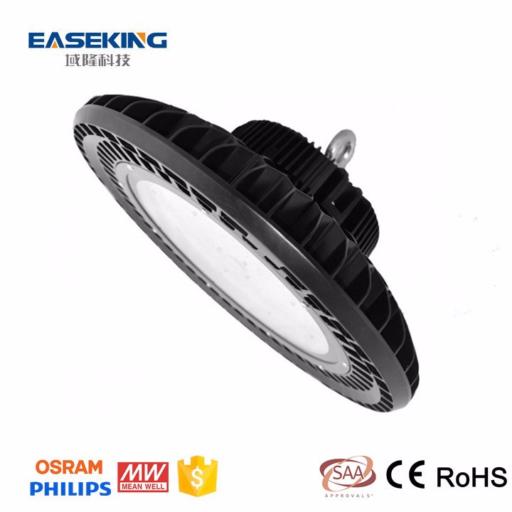 High power 140lm/w Meanwell 5 year warranty UFO design Industrial lighting, 80w 100w 120w 200w 250w 150w UFO led high bay light