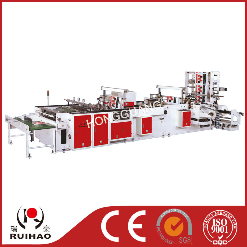 Automatic High Speed Handle Sealing Plastic Bag Making Machine