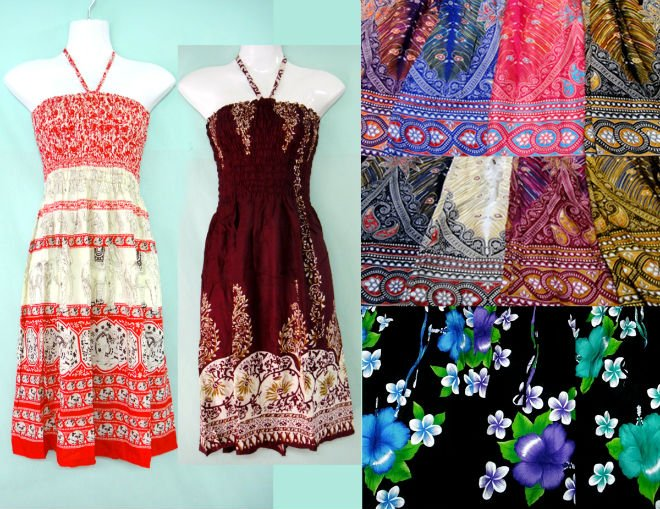 oriental thai style vintage retro HIPPIE BOHO HAWAII BLOCK TIE DYE FLORAL PAISLEY MAXI DRESS PLUS SHORT style $4