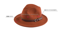 fashion Wool Felt women fedora hat with different color available