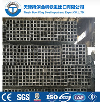BS1387-1985 Square Welded Galvanized Steel Pipe for building material