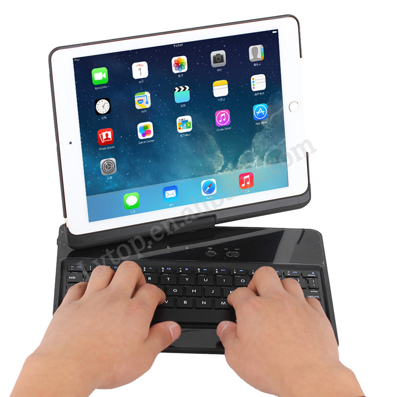 For iPad air2 360 degree rotate bluetooth keyboard case