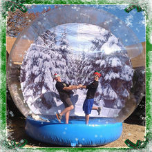 qiqu G007 indoor giant christmas Transparent inflatable indoor snow globes