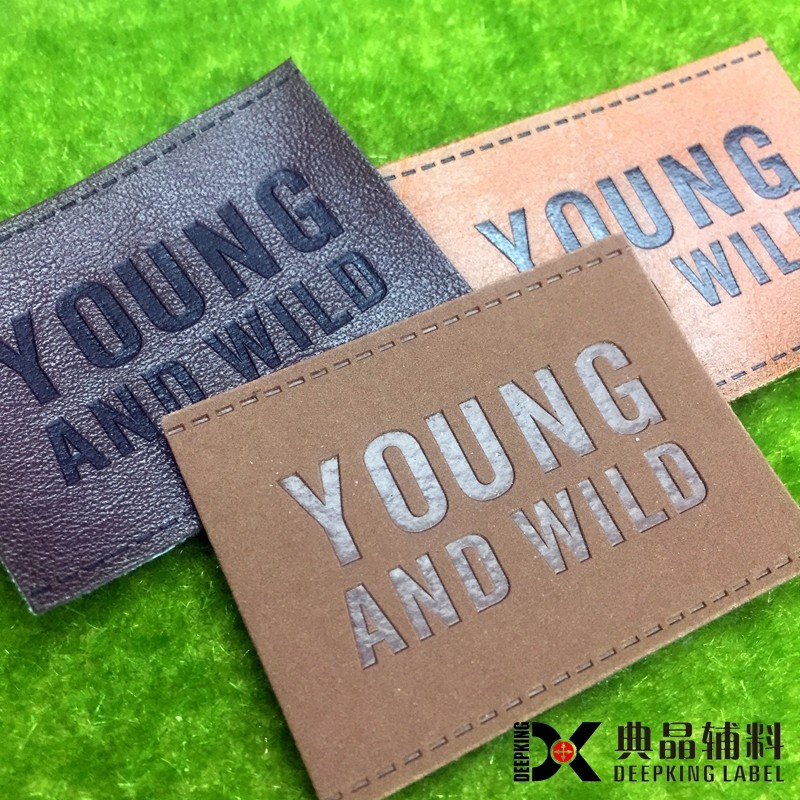 faux leather labels jeans pu leather label design from direct manufacturer