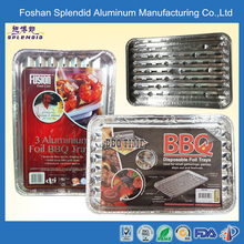 outdoor korean oven safe bbq serving grill aluminum disposable bbq tray