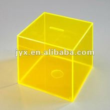 solar yellow acrylic money box