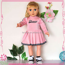 New arrvial doll clothes 18 inch cheer leader dress for doll