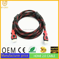 Best selling free oxgen copper 1080p cable l shape with fctory price