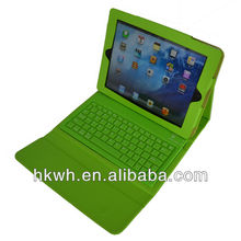 Light green color with bluetooth keyboard USB2.0 for ipad 3/4 leather case