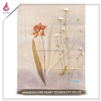 Promotion beauty flower heart acrylic gem sticker canvas oil painting