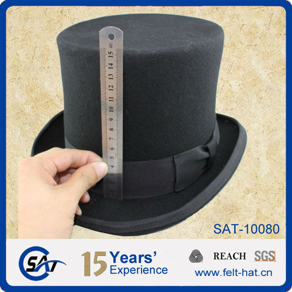wool Victorian top hat