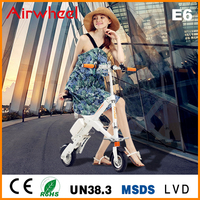 Airwheel E6 electric personal transport foldable Vehicle with lifepo4 panasonic battery CE ROHS approval