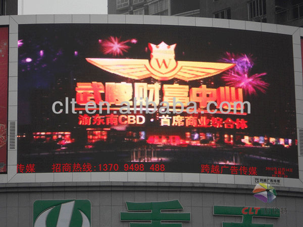 outdoor led p10 screen/led message full color display/outdoor big tv dip