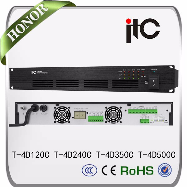 ITC 4 Channel audio power amplifier for car audio system