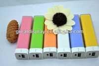 2600mah Power Bank Portable Charger for iPhone/iPad/Samsung/blackberry/nokia mobile phone,tablet pc,MP4 mp3