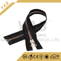 low price wholesale rose gold open end metal zipper with auto lock and thumb puller for jackets