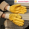SRSAFETY popular yellow nitrile glove industrial safety product