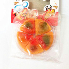 Fried fastfood series assorted mixed fruit flavors halal gummy pizza candy