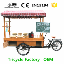electro-tricycle for coffee vending