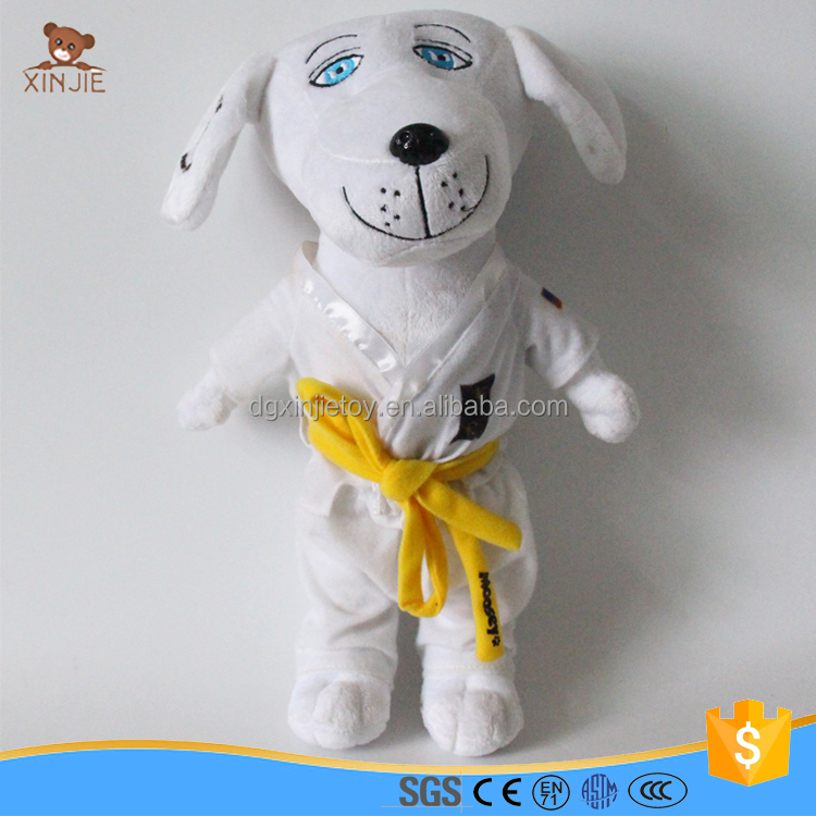 custom plush uniform dog stuffed standing dog with clothes