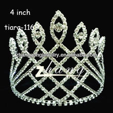 2012 Fashion New design diamond wedding and pageant tiara