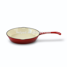 Hot cast iron enamel non stick with mouth frying pan