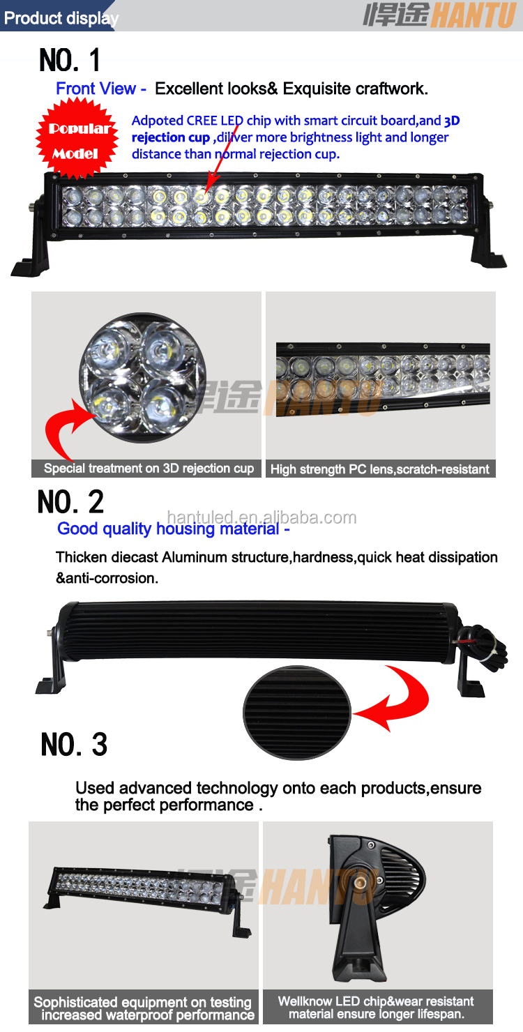 waterproof led work light for trucks,auto parts ,boats 120w marine led light bar