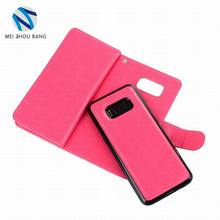 Card slot wallet case for Samsung galaxy note 8 magnetic PU leather case for samsung note 8 skin flip case