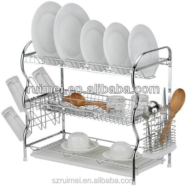 Restaurant Kitchen Racks 3 tiers restaurant/kitchen dish/tableware rack - buy kitchen