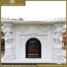 Hot selling Cheap white marble fireplace mantel price