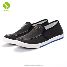 wholesale designer china cheap price men dress shoes canvas slip on deck shoes