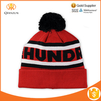 Wholsale Adult Stripe Winter Fashion Custom Beanie Knitted Cap