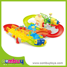 wholesale plastic electric building blocks electric ride on train with tracks