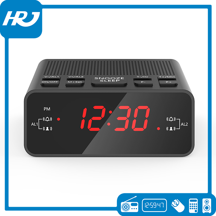 Universal Digital LED Alarm Table Clock with FM radio