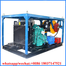 500-1000mm diesel engine sewerage drain pipe cleaning water jetting machine