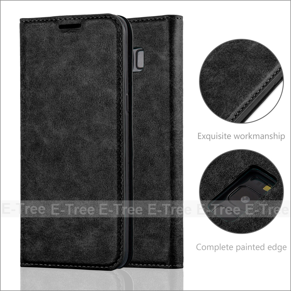 Invisible Magnet Close PU Leather Book Wallet Stand Mobile Phone Case Back Cover For Samsung Galaxy S8