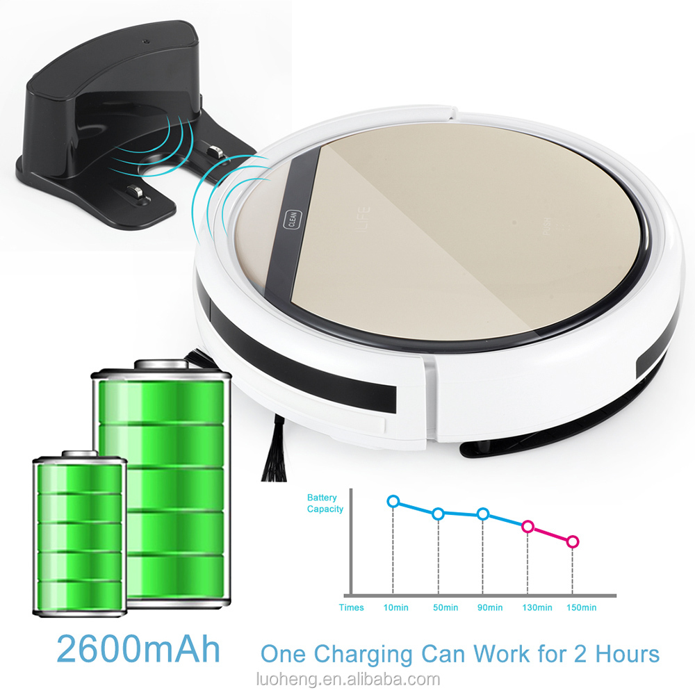 Race Up Anti-collision Auto Charge Wet Floor Cleaning Robot Vacuum Cleaner