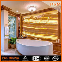 salon house flooring and wall onyx laminated glass tile