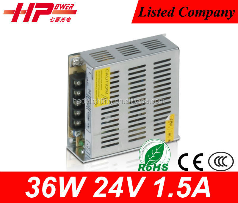 Switch Power Supply Driver For LED Strip light 36w 24v