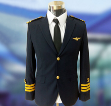 custom good quality factory price winter style long sleeve airline pilot uniform for captain