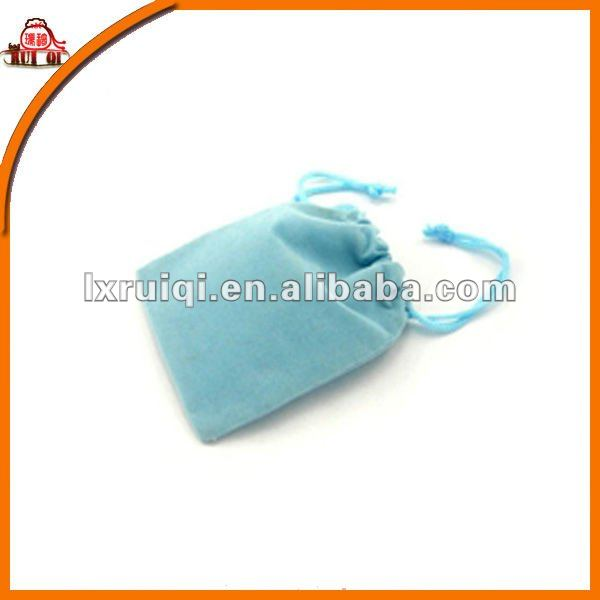 Cute Baby Blue Velvet Pouch for Mobile phone